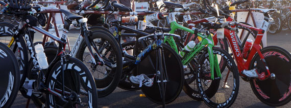 Pro bikes at the 2012 IronMan St. George